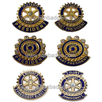 imitation hard enamel badge 18