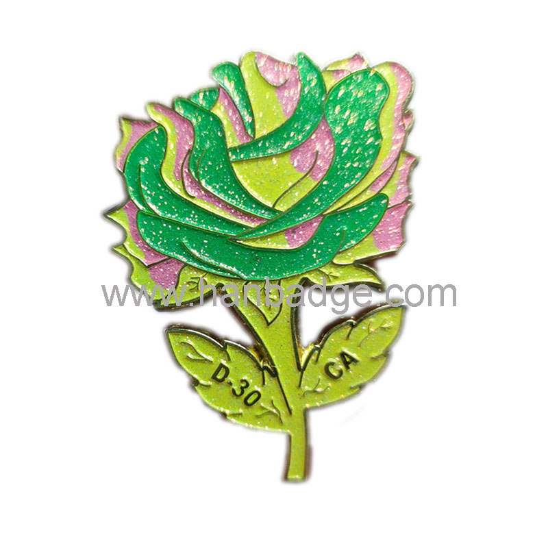 soft enamel glitter badge 28